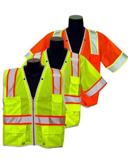 black REFLECTIVE design Construction Crew safety vest High Visibility vest,