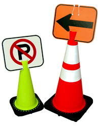 Clip-On-Sign for Traffic Cones & Tubes