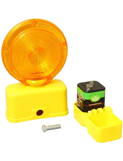 6-Volt Amber LED Barricade Flasher