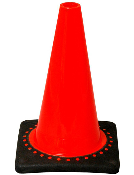 """Orange 12"""" Traffic Cone with Black Base image"""