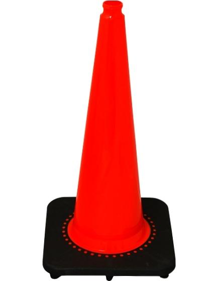"Orange 28"" 7.0 Lb. 'Slim-Line' Traffic Cone with Black Base image"