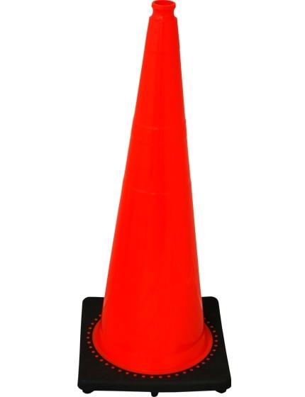 "Orange 36"" 10.0 Lb. Traffic Cone with Black Base image"