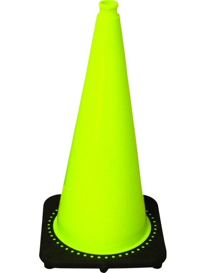 """Lime 28"""" Traffic Cone with Black Base image"""